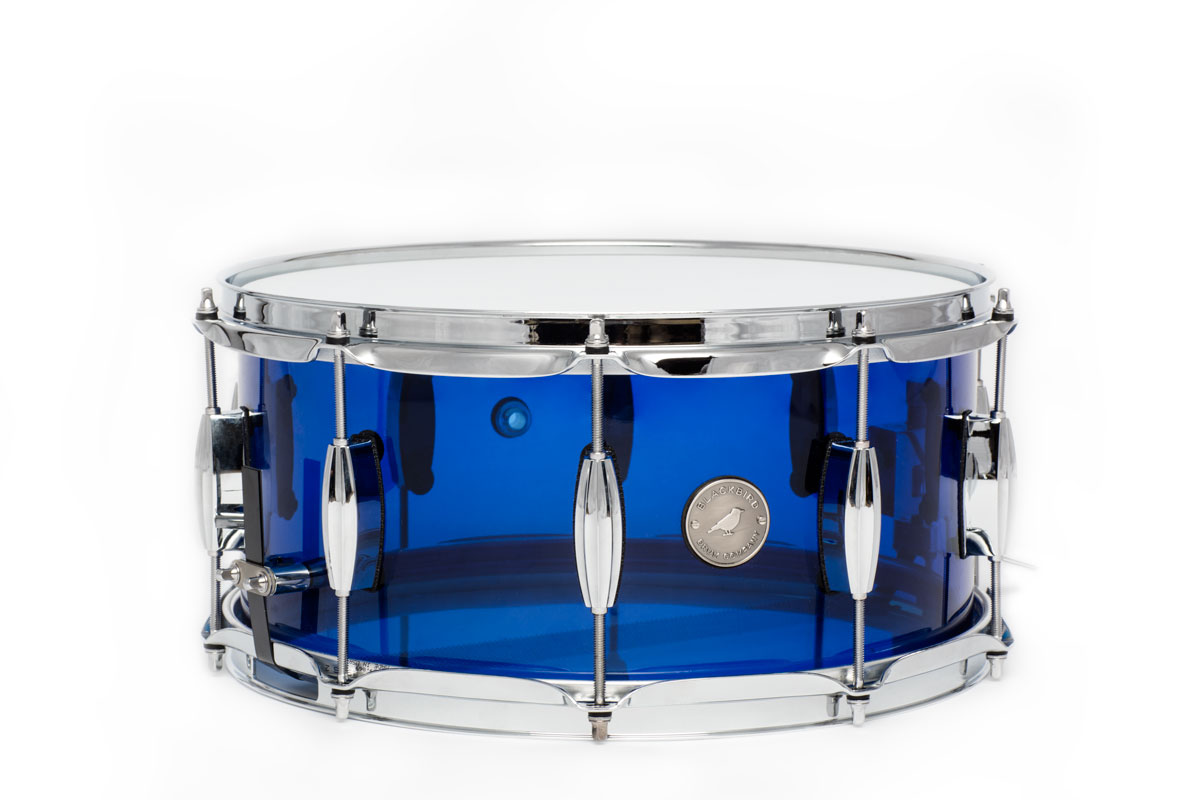 retro series acrylic snare drum blackbird drum company