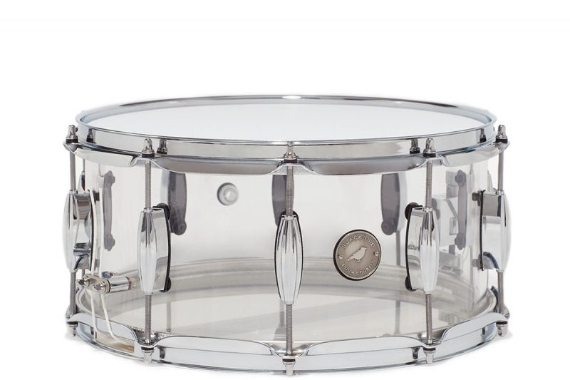 6.5x14 Retro Series Clear Acrylic Snare Drum